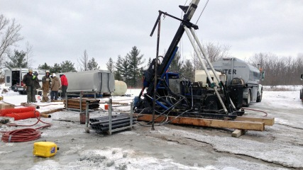 Drilling angular borehole