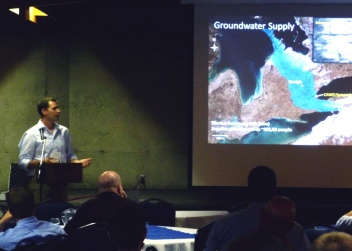 Photo from Consortium 2014 presentation on screen
