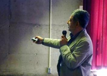 Photo from Consortium 2015 Ramone speaking