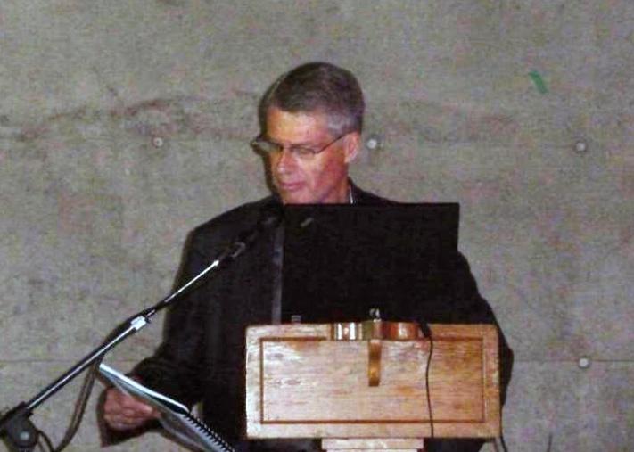 Photo of John Cherry speaking