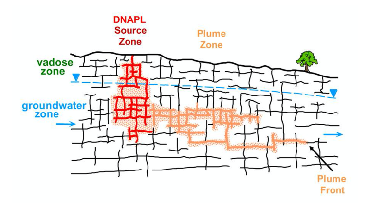 Contaminant Plume behaviour in fractured bedrock