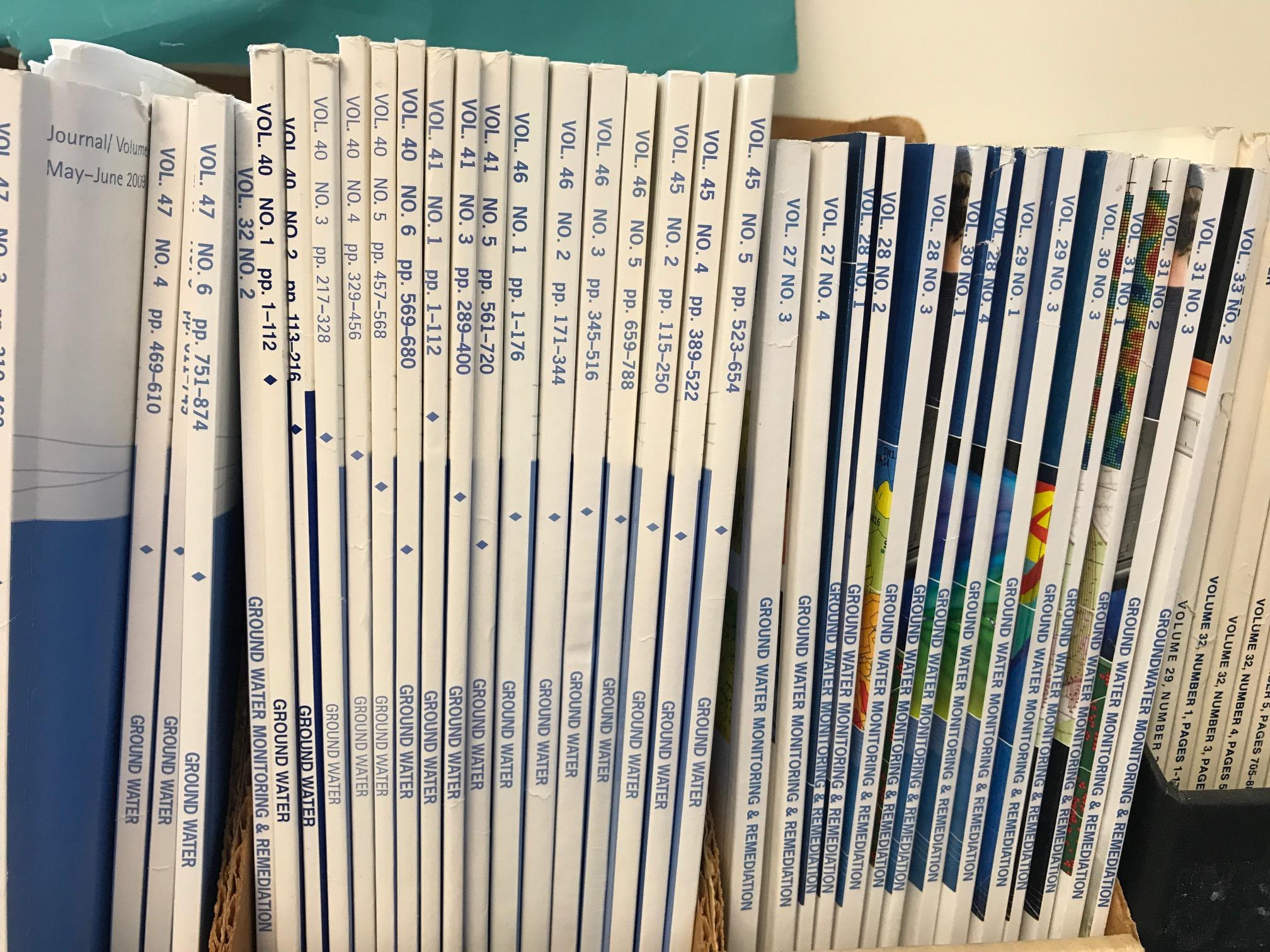 Shelf of journals